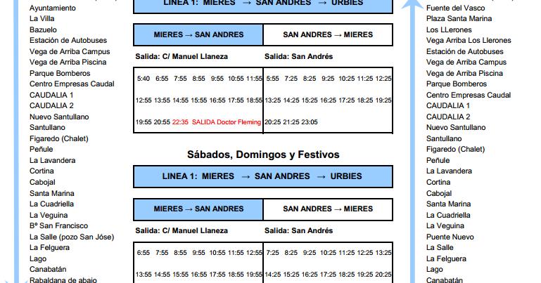 Autobuses de asturias los pol micos nuevos horarios de for Camiones usados en asturias