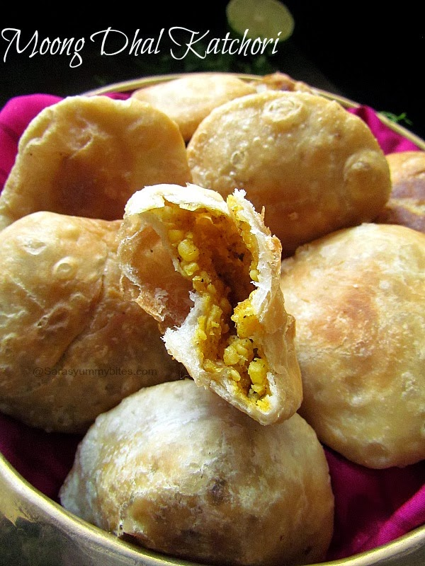 moong dhal katchori and atta ka sheera / wheat flour halwa for ifc