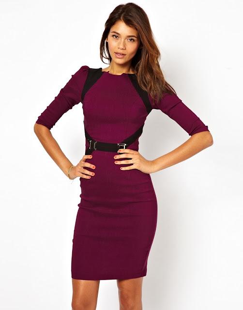 plum harness dress