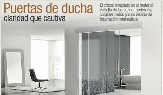 Ceba Puertas Para Baños La Trinidad:el cristal templado es el material estrella de las puertas de ducha de