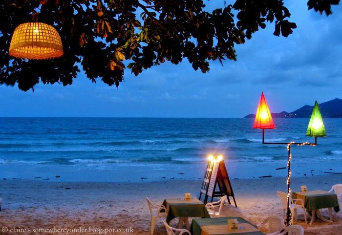 dinner on the beach - Koh Samui, Thailand