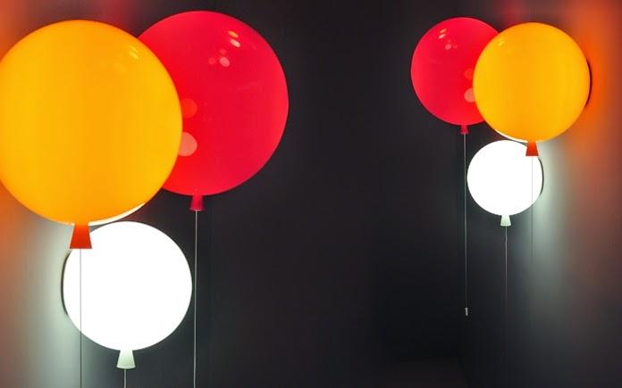 Lampu dinding berbentuk balon untuk kamar tidur anak
