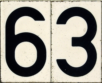 The number 63