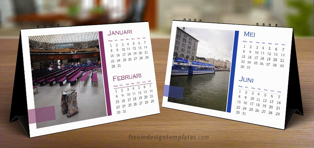 Free Indesign Desk Calendar Template Free Indesign Templates Download