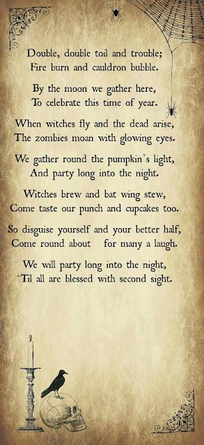 Halloween Poem, Halloween Printable, Halloween DIY,  Halloween Party Template