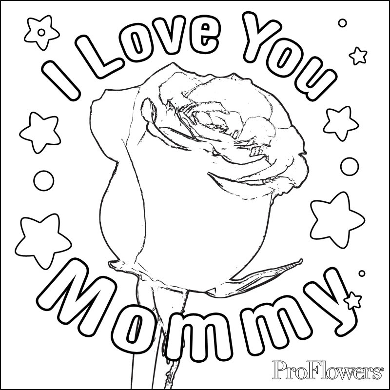 Coloring Pages For Your Mom Kids Rose Alien