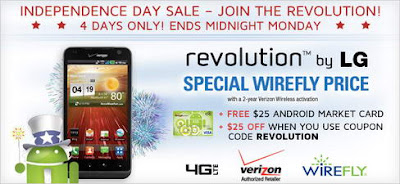 Lg revolution verizon wireless coupon code discount at wirefly for American frame coupon code