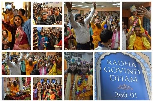 Jagadguru Kripalu Ji Maharaj devotees celebrate Janmashtami 2014 New York, at Radha Govind Dham