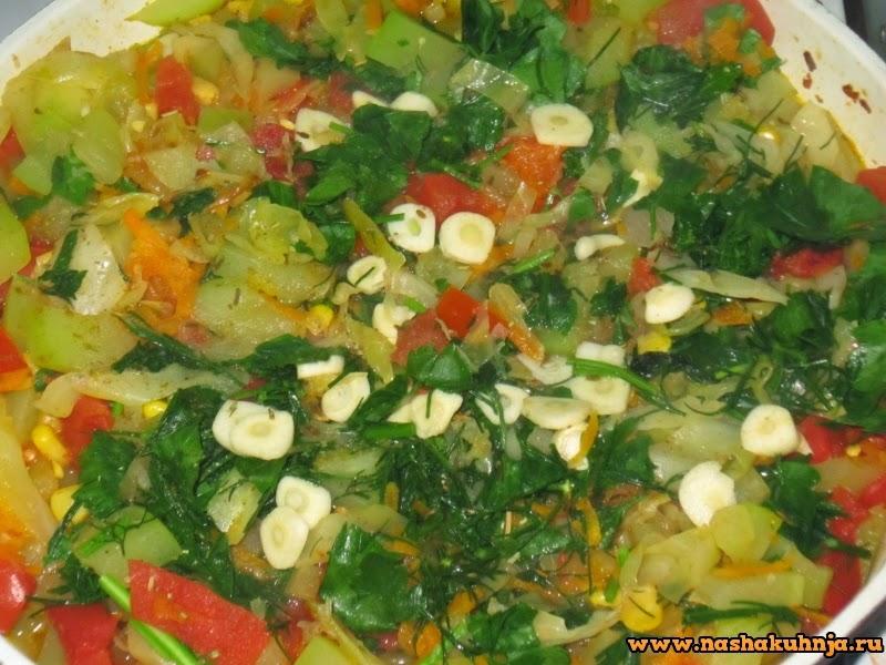 Кабачки тушеные с овощами пошаговый рецепт в мультиварке 167