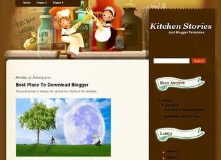 Kitchen Stories Blogger Template