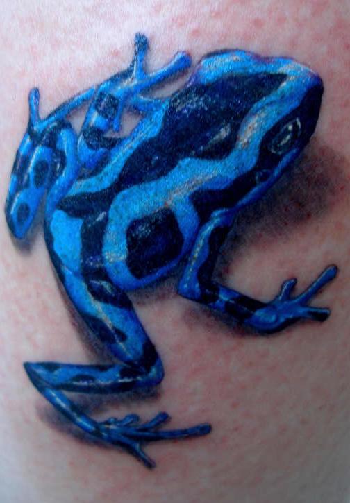 blue frog tattoo