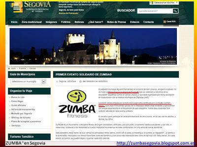 ZUMBA® en Segovia en el Patronato Provincial de Turismo. Evento solidario 18 Mayo 2013