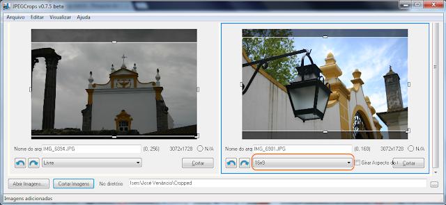 JPEGCrops - corte imagens para 16x9