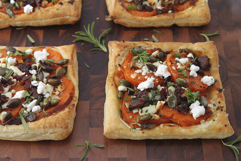 Sweet Potato Galettes with Fresh Herbs, Applewood Bacon and Goat ...