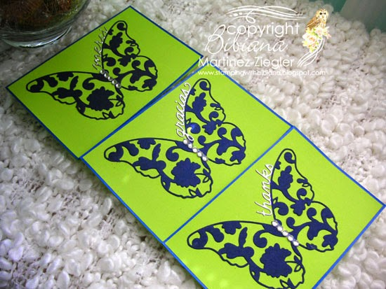 3 cards CAS absolute simplicity with this butterfly