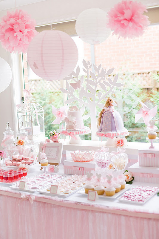 Tangled + Enchanted themed birthday party with tons of ideas via Kara's Party Ideas #supplies #tangled #partyideas #decorations #invitation #cake #decor #plates #napkins #cups #cupakes