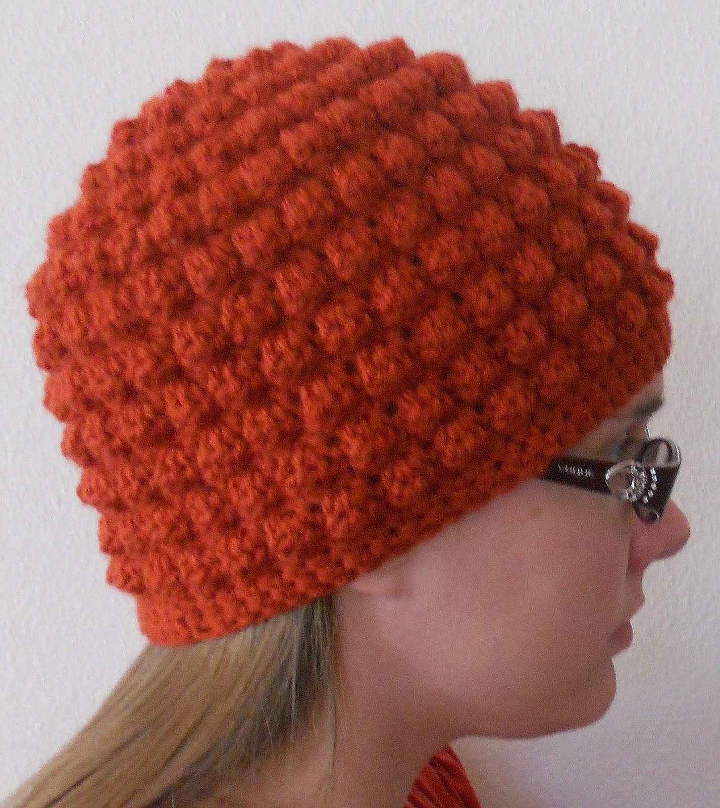 Crochet Patterns Hats For Adults : ... Woman Creations: Free Adult Size Bumpy Bobbles Beanie Crochet Pattern