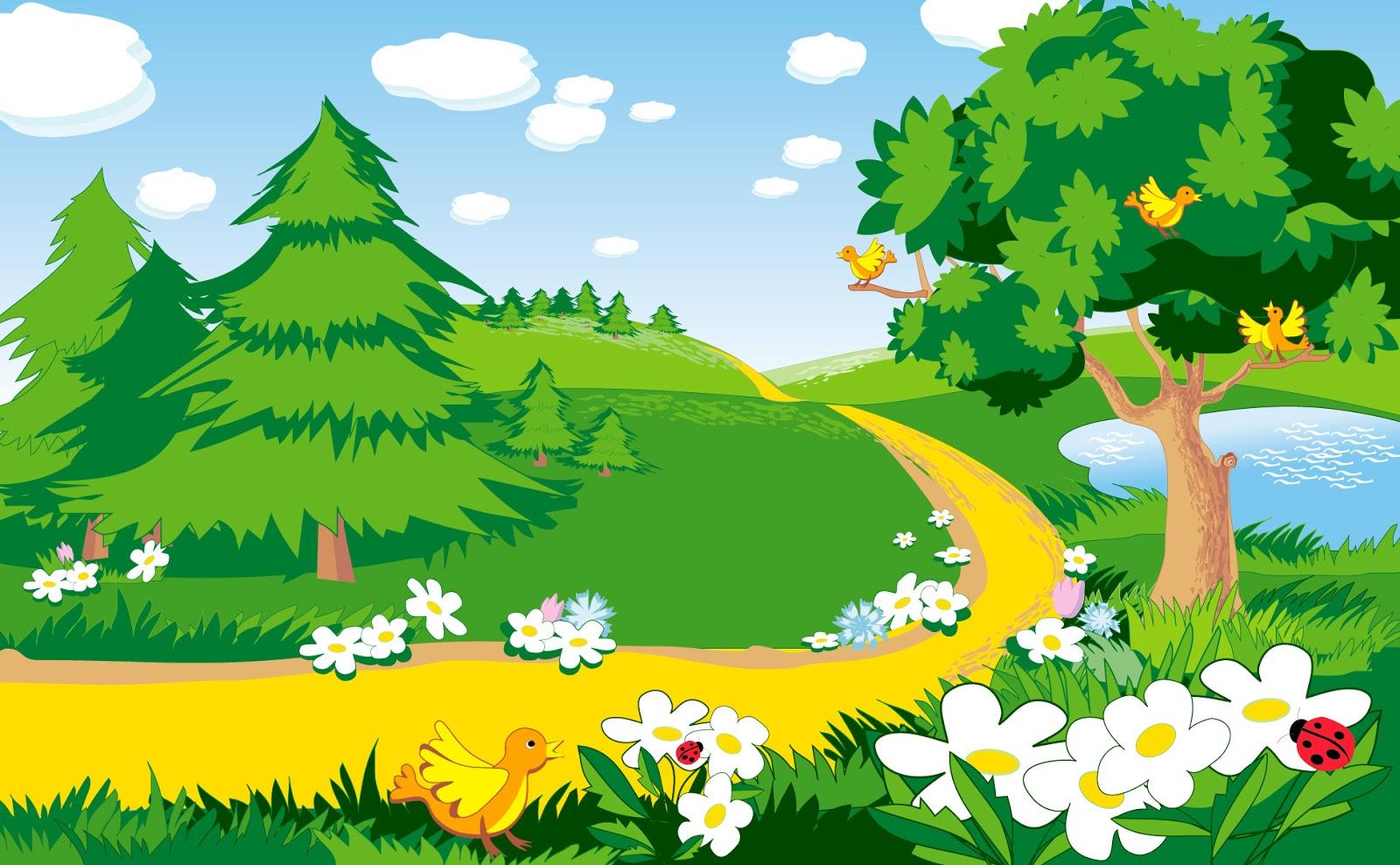 Fondo de pantalla para ni os peque os bosque mis fondos for Jardines pequenos para ninos