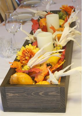 DIY Rustic Fall Centerpiece