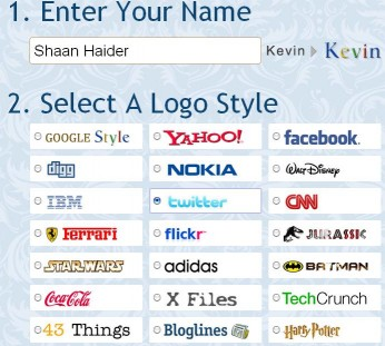 Create Search Engine With Funny Logos Of Your Name