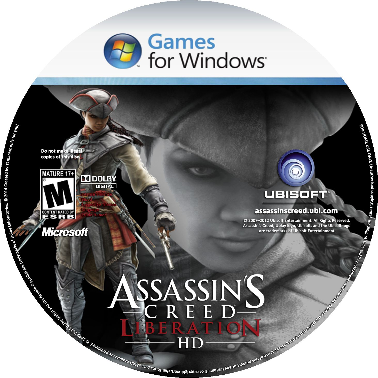 Label Assassins Creed Liberation HD PC