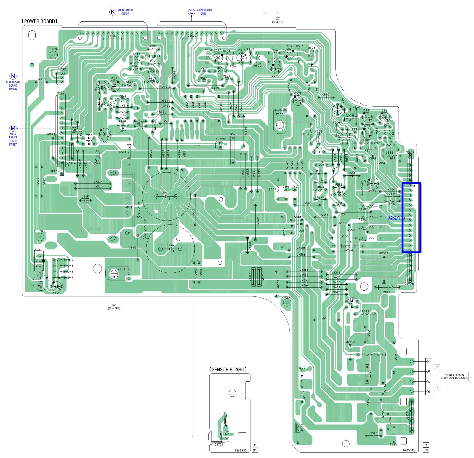 Sony Hcd Rg66t Stk 442 130 Power Amp Supply Schematics 2 X 40 Watt Amplifier Pwb
