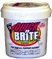 Quick n Brite; Natural Cleaning Products; Shower Cleaner; Fireplace Cleaner; Green Cleaner; Household Cleaning Products;