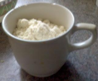 Equivalencia de la taza de harina.