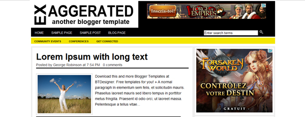 Exaggerated Blogger template supercooltemplates.blogspot.com