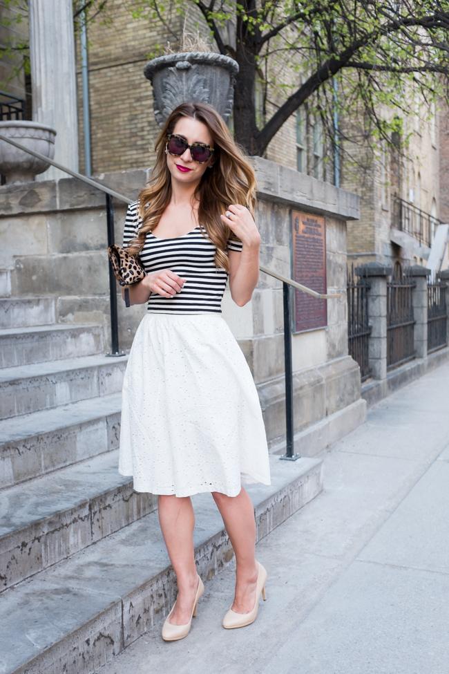 OOTD - White Midi Skirt | La Petite Noob | A Toronto-Based Fashion ...