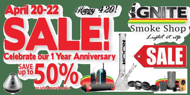 Ignite smoke shop save up to off anniversary sale