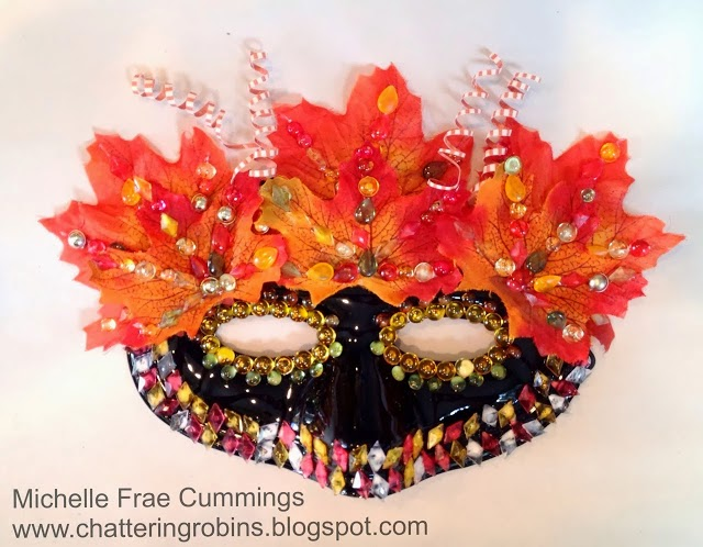 Fall Harvest Masquerade Mask