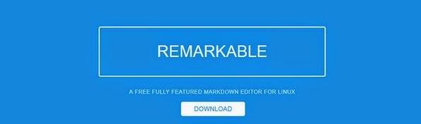 Remarkable markdown editor for Linux platform