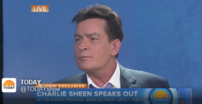 Actor Charlie Sheen anuncia que tiene VIH
