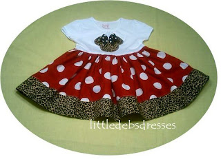 Little Debs Dresses Minnie Mouse Applique