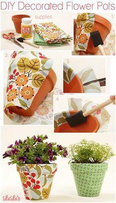 Telas para decorar macetas
