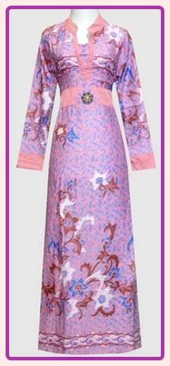Update Empat Warna Model Baju Gamis Batik