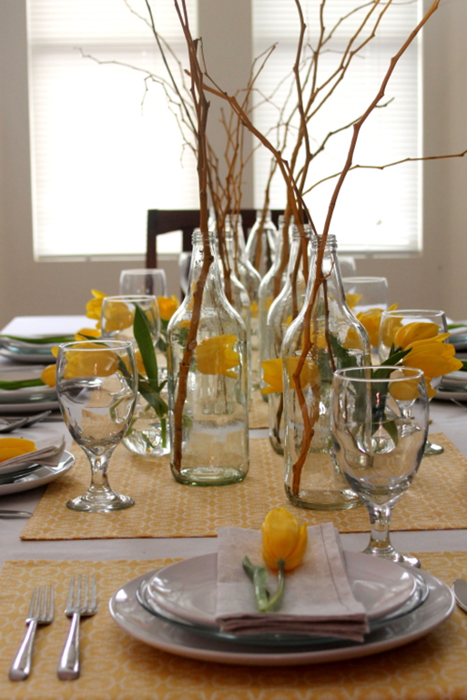 Dining table formal centerpiece ideas
