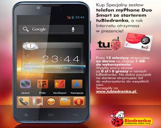 Smartfon myPhone Duo Smart z Biedronki