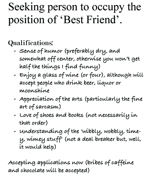 seeking best friend
