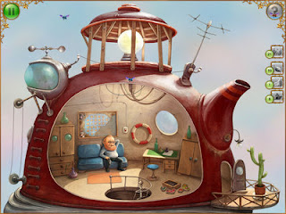 The Tiny Bang Story Game old man in teapot