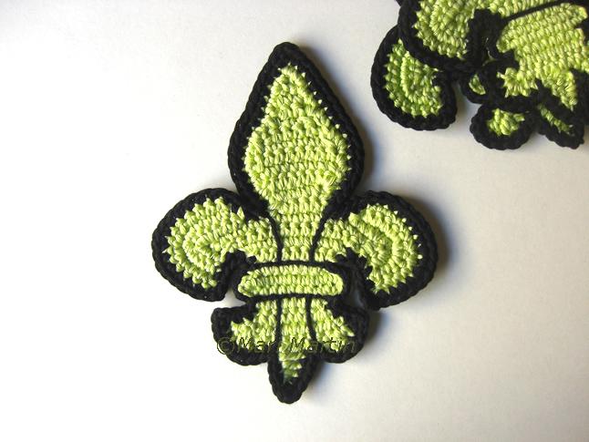 Crochet Coasters Fleur De Lis This Week On My Desk Crochet Colorful