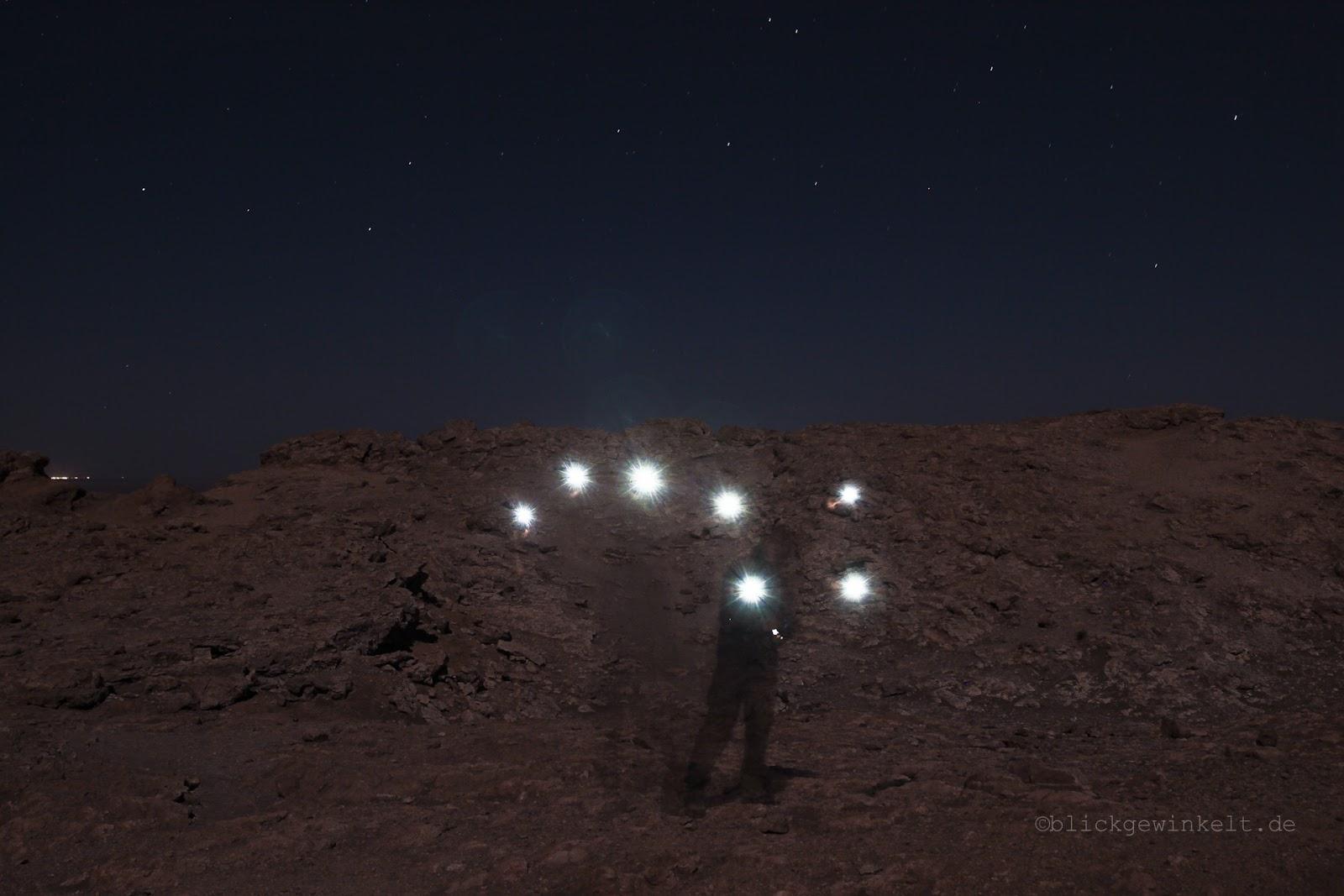 Großer Wagen, Lichtmalerei mit der Taschenlampe