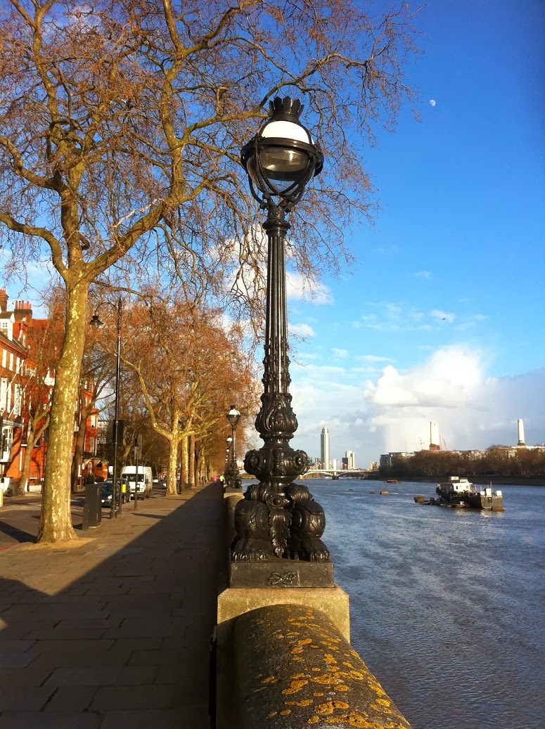 Street lamp, with Battersea Power Station in background