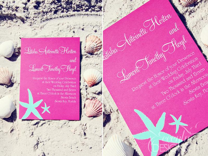 Bridal Shower Gift Destination Wedding : Beach+Wedding+Collection+-+5X7+Bridal+Wedding+Invitation2.jpg