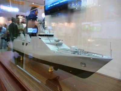 Model PKR dipamerkan Damen Schelde di Indo Defense 2012. (Foto: Berita