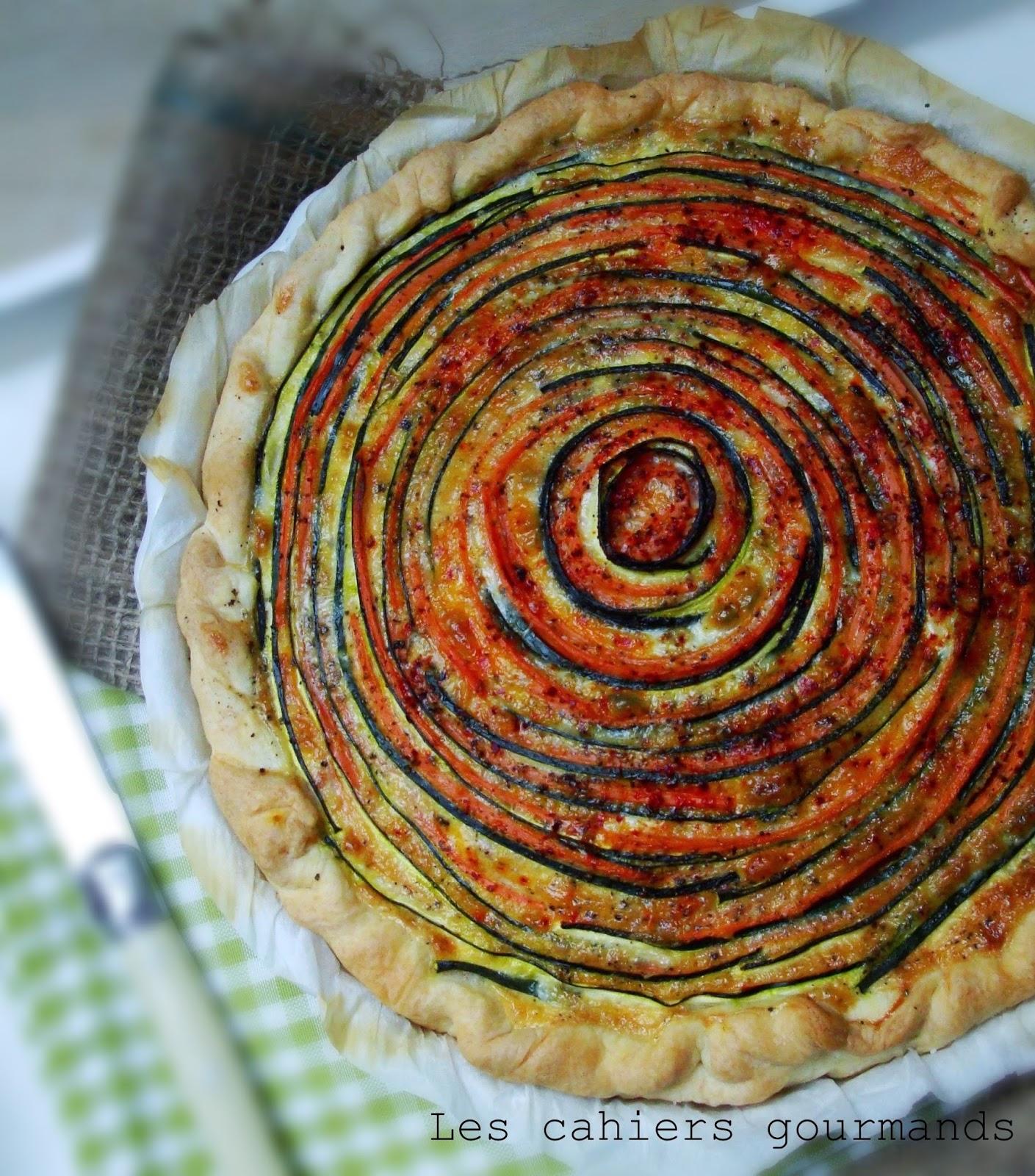 Les cahiers gourmands tarte ch vre carottes courgettes - Recette tarte salee originale ...