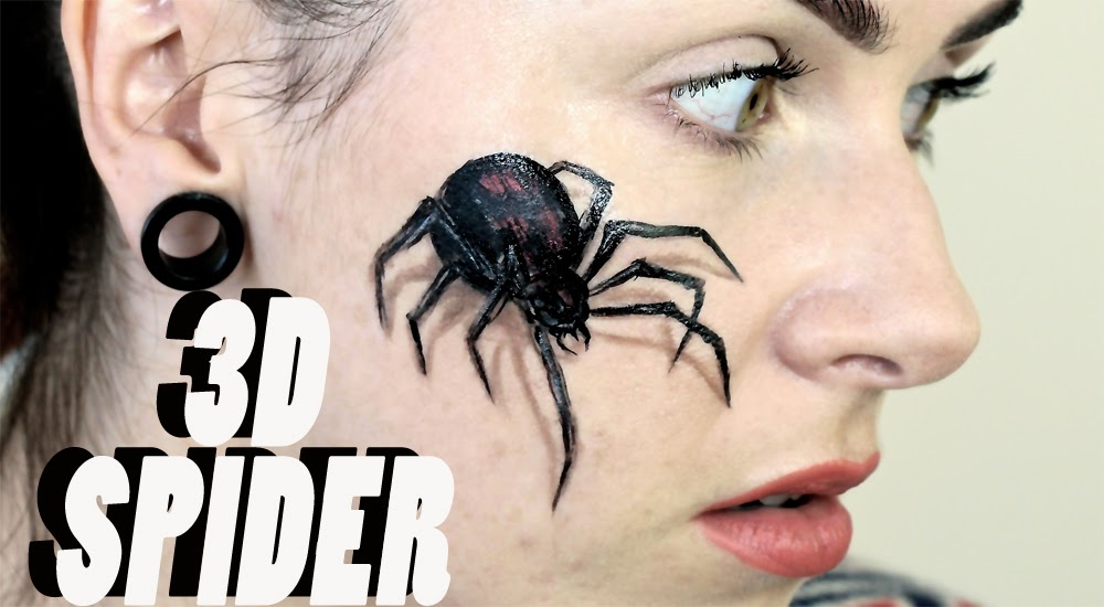 Halloween Spider Face Makeup 3d Spider Halloween Makeup