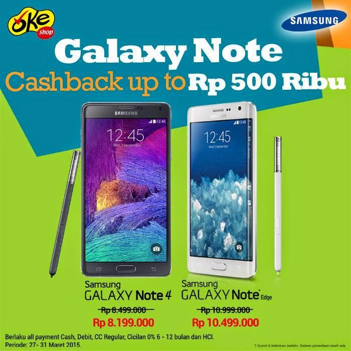 Samsung Galaxy Note Cashback Hingga Rp 500 Ribu