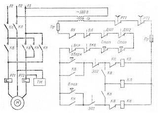 Схема управления электроприводом грузового лифта